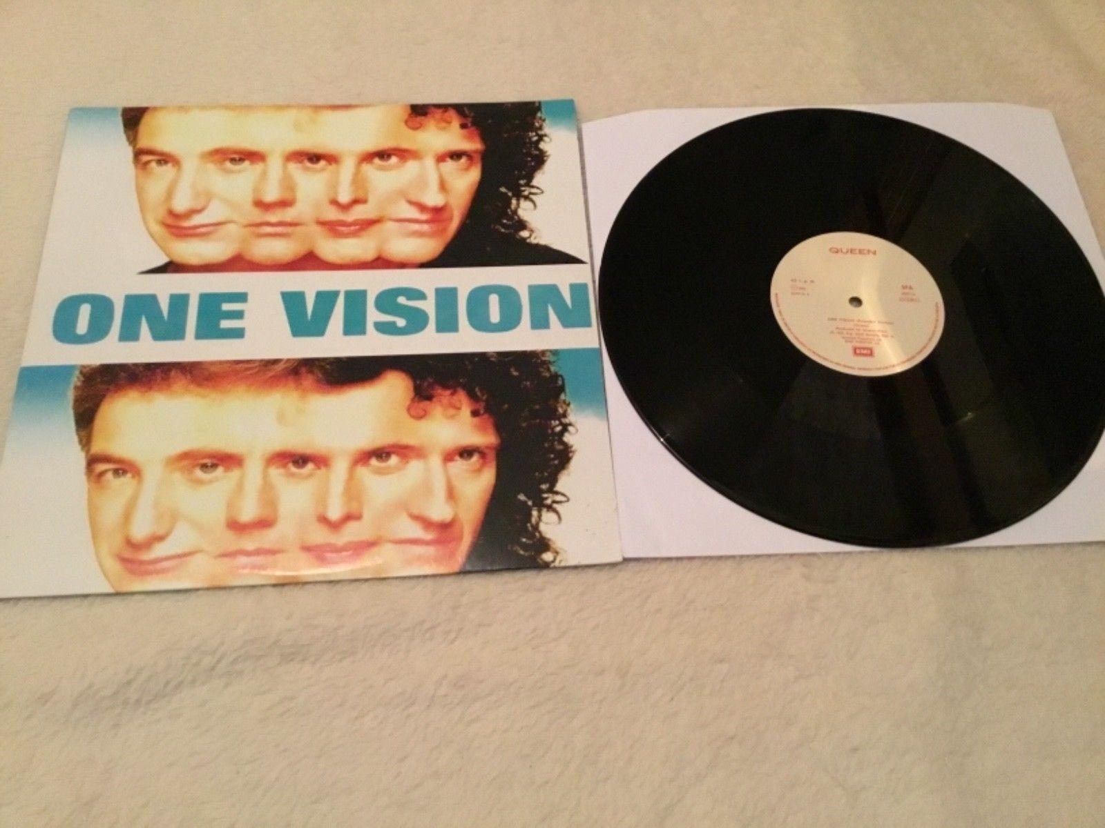 "Queen ""One Vision"" Original 1985 Portugal 12 inch D.J. Copy"