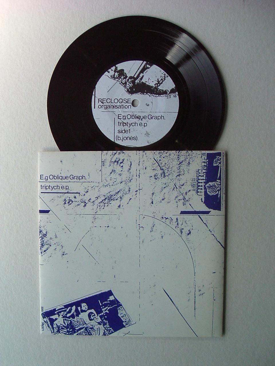 """E.G OBLIQUE GRAPH - Triptych - 1982 7"""" Vinyl EP - Electronic Muslimgauze - Mint"""
