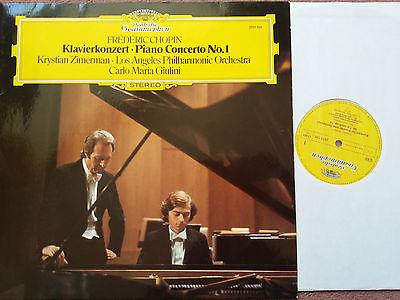DG 2531 125 Chopin PIANO concerto no.1 KRYSTIAN ZIMERMAN GIULINI LAPO RARE NM