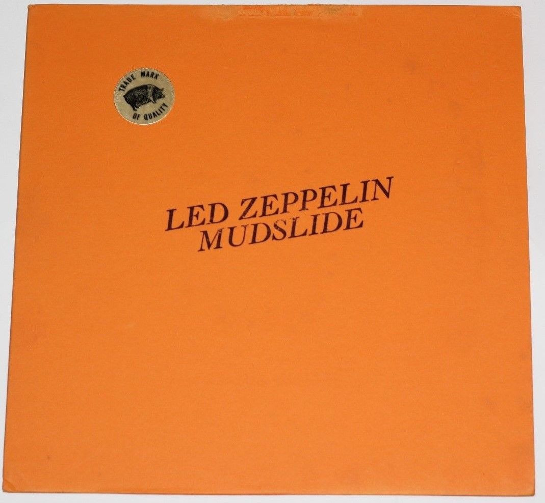"LED ZEPPELIN ""MUDSLIDE"" on TMOQ on NM Green Vinyl Jacket is EX 1970 ZEPPELIN Lp"