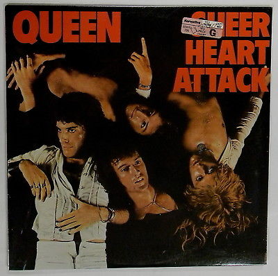 SEALED original QUEEN Sheer Heart Attack LP 1974 nice copy