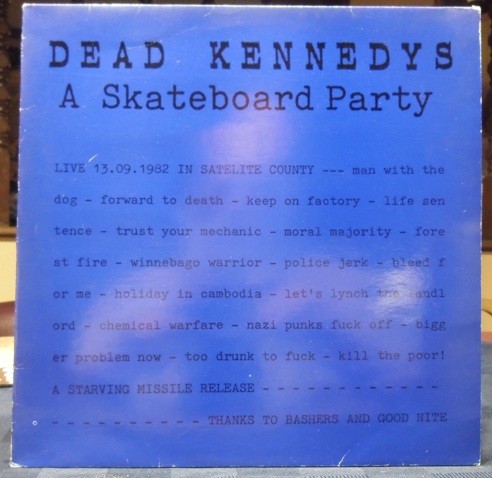 Dead Kennedys A Skateboard Party German LP Starving Missle 102 NM-/VG+