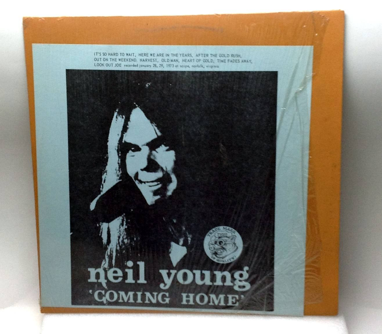 Neil Young Coming Home Live 29/1/1973 Vinyl LP Record TMOQ 1881 Rare VG++/NM