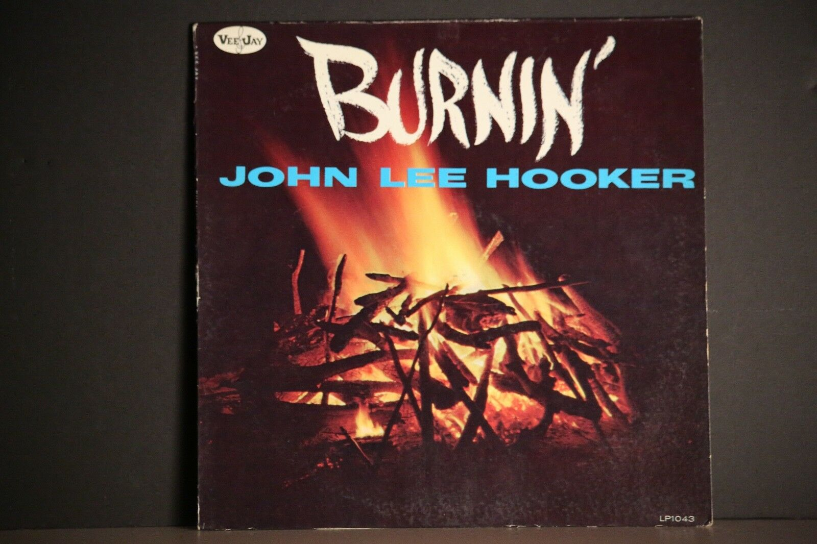 JOHN LEE HOOKER LP BURNIN' 1962 FIRST PRESS VEE JAY LP-1043.