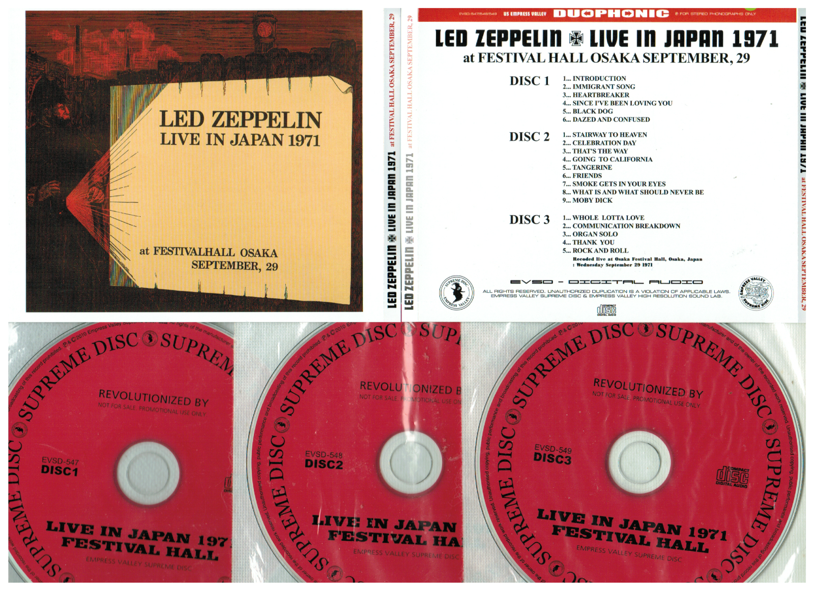 popsike com - Led Zeppelin 3CD Live In Japan 1971 Osaka