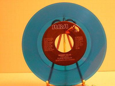 "Mega Find  Elvis Presley""Moody Blue"" Colored set of 5 45 rpm Records NM/VG+"