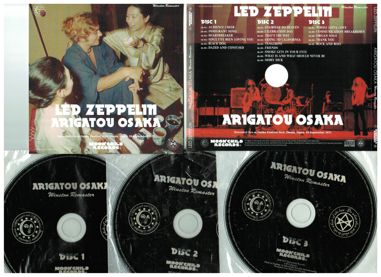 popsike com - Led Zeppelin 3CD Arigatou Osaka Festival Hall 9/29/71