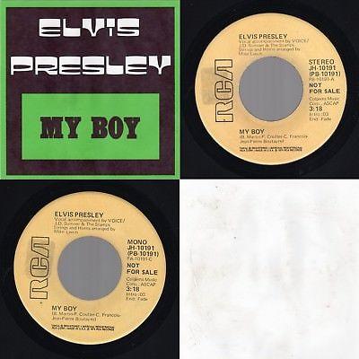 "(Promo ST/Mono NM)  Elvis Presley ""My Boy"" RCA Victor JH-10191 RCA-2458EX 1975"