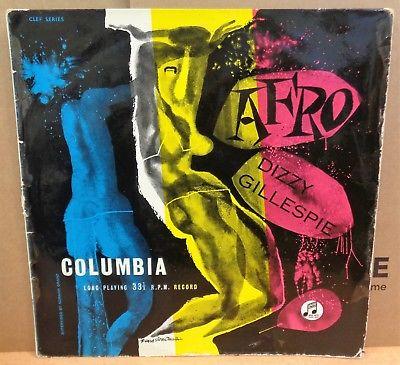 DIZZY GILLESPIE AFRO OG UK COLUMBIA LP CLEF SERIES 33CX 10002