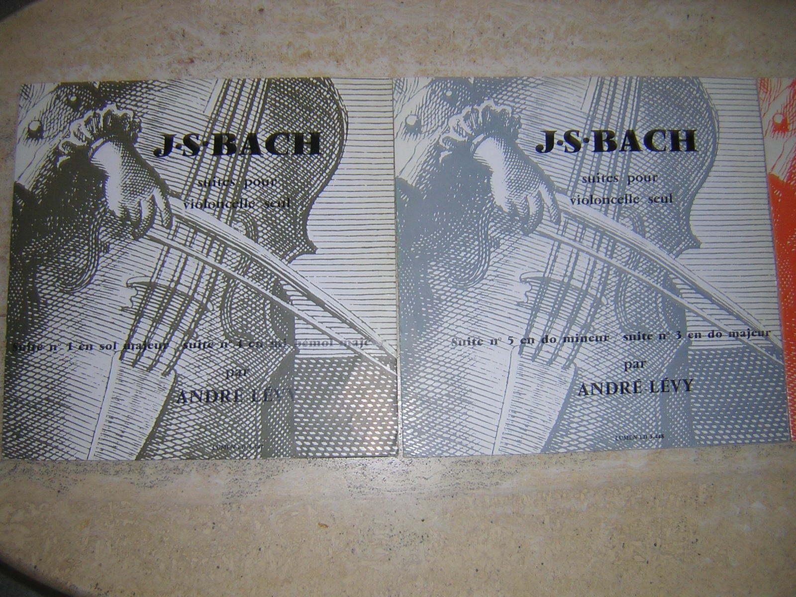 Bach Cello Suites / Andre Levy RARE FRENCH LUMEN 3 LP SET