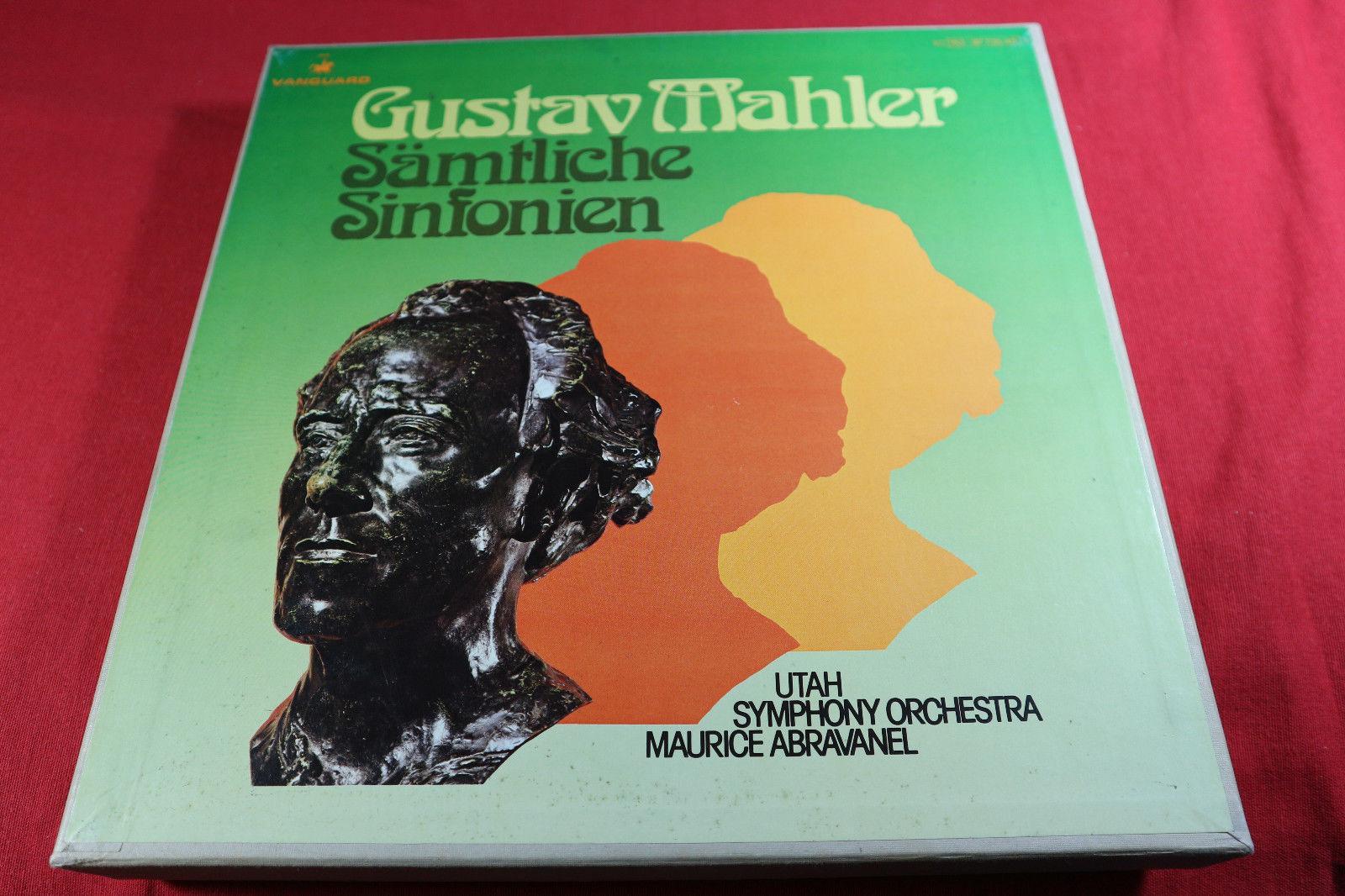 Mahler  SÄMTLICHE SINFONIEN  -  Maurice Abravanel Vanguard 14 LP-Box sehr gut
