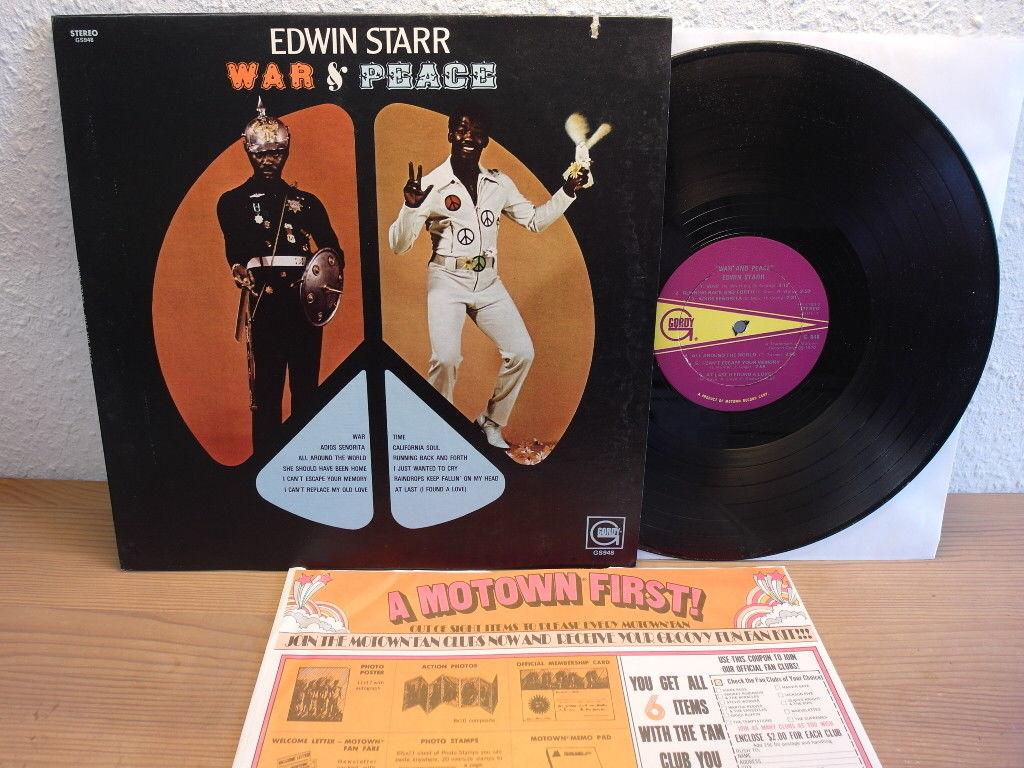 EDWIN STARR - WAR & PEACE 1970  GORDY FUNK LP IN MINT CONDITION