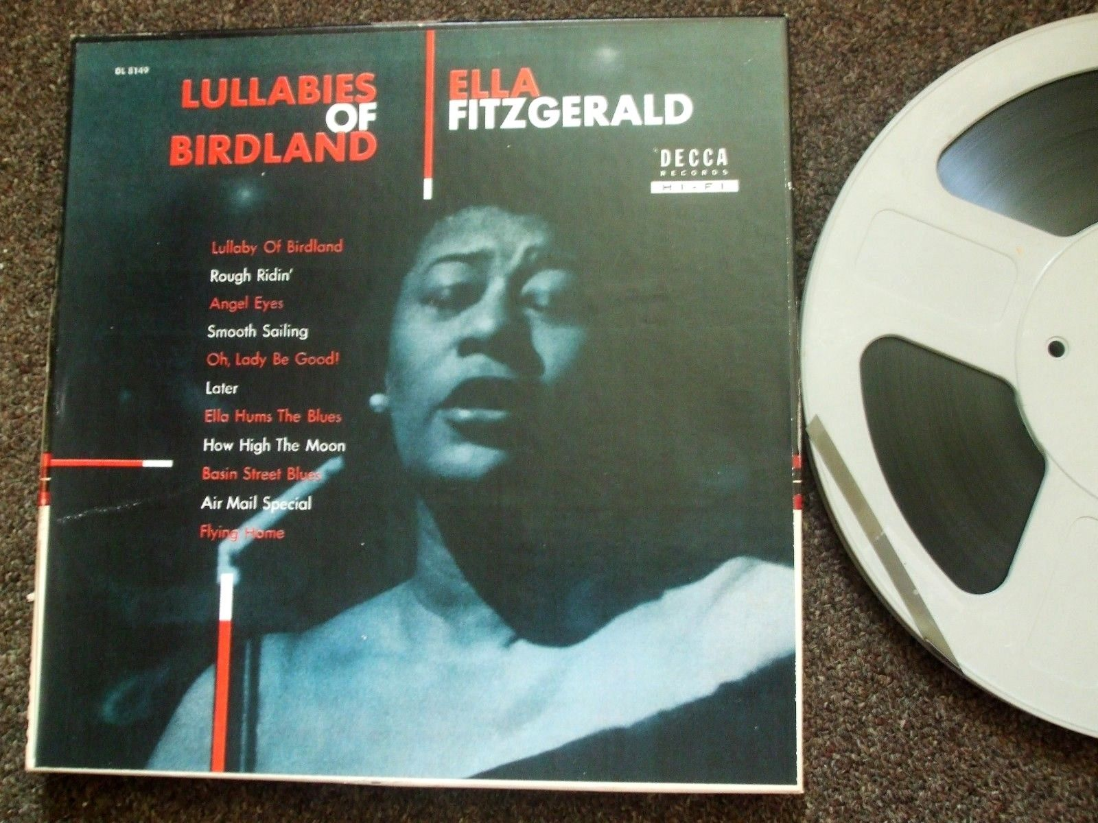 "ELLA FITZGERALD - LULLABIES OF BIRDLAND - 2-TRACK  15 IPS 10"" REEL"