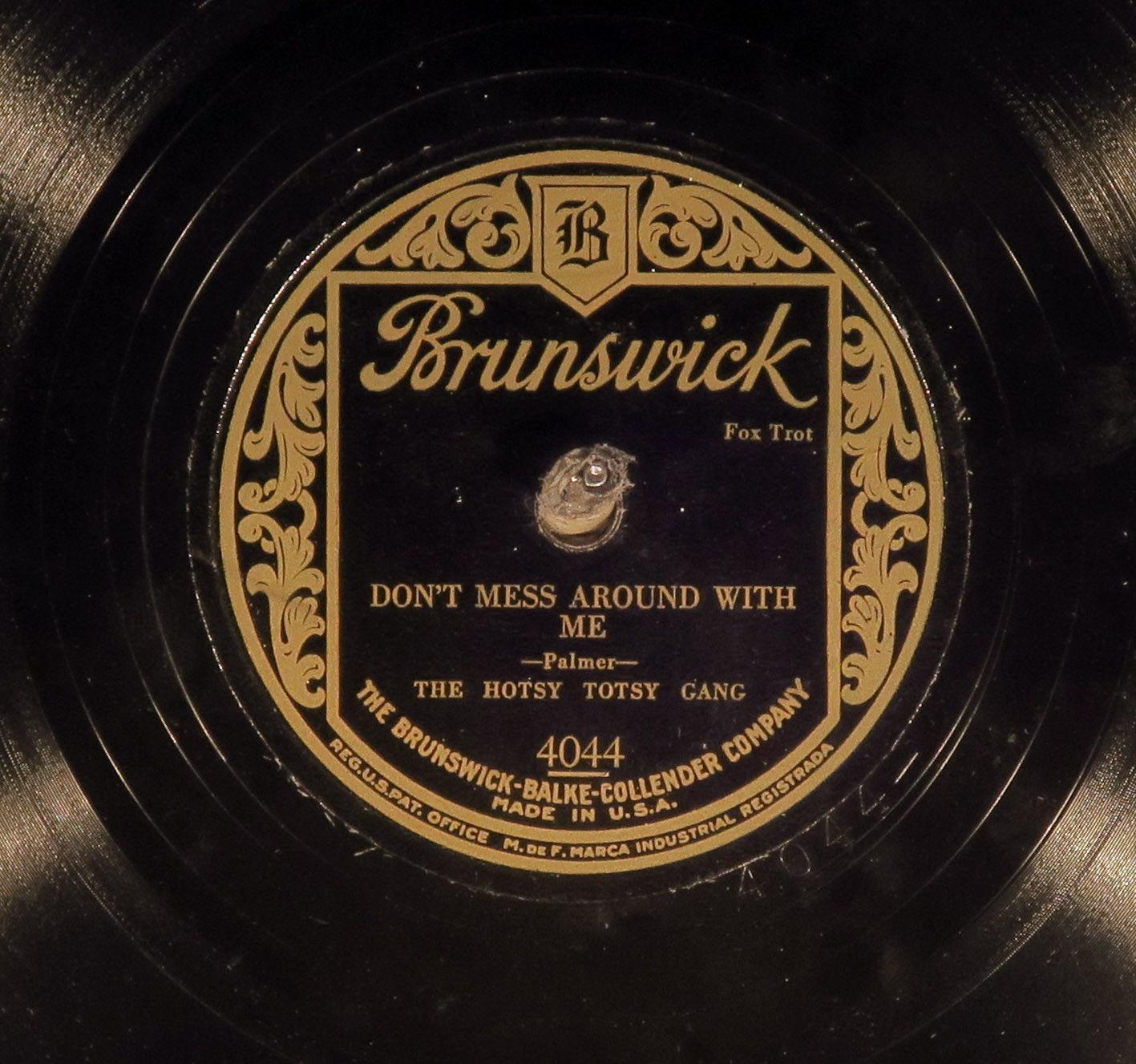 "78 RPM -- Duke Ellington, Brunswick 4044, EE+ ""Black Beauty"" mispressing - Jazz"