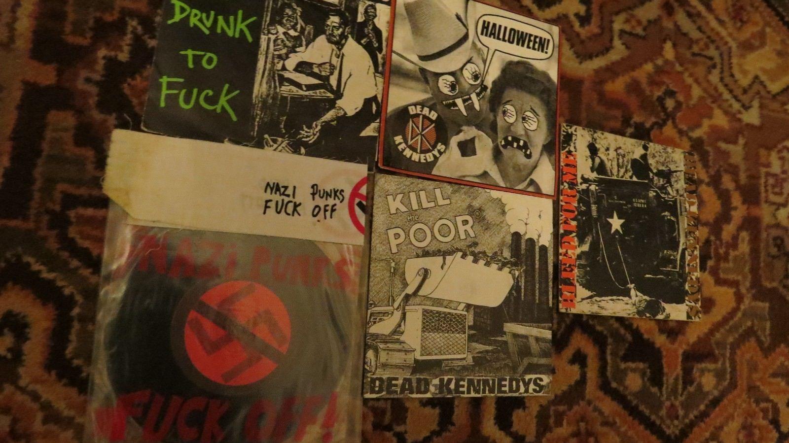 "popsike - dead kennedys 7"" set nazi punks bleed for me kill the"