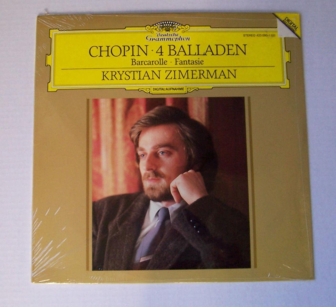 Krystian Zimerman Chopin 4 Balladen Vinyl Original 1st US Press '88 DG 423 090-1