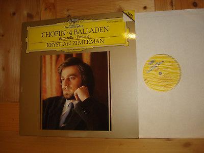 Chopin 4 Ballades KRYSTIAN ZIMERMAN Piano ORIG 1st 1988 DGG LP 423090-1 MINT
