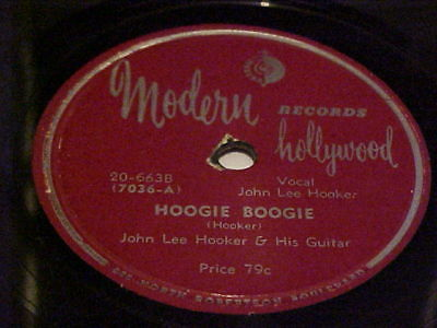 "Modern Hollywood  663 Blues 78 John Lee Hooker  ""HOOGIE BOOGIE / ""HOBO BLUES"""