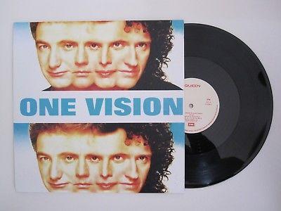 "QUEEN : One Vision Portugal D.J. Copy 12"" Maxi Vinyl Single Portuguese Record"