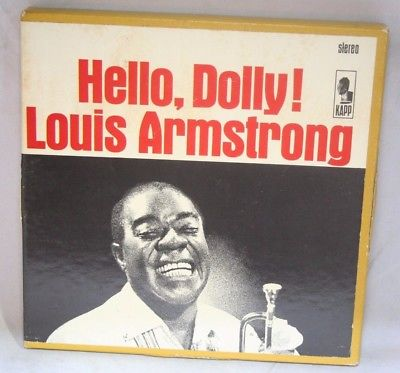 "7"" Reel Tape- Hello, Dolly    Louis Armstrong   7.5 IPS Play Tested Box N"