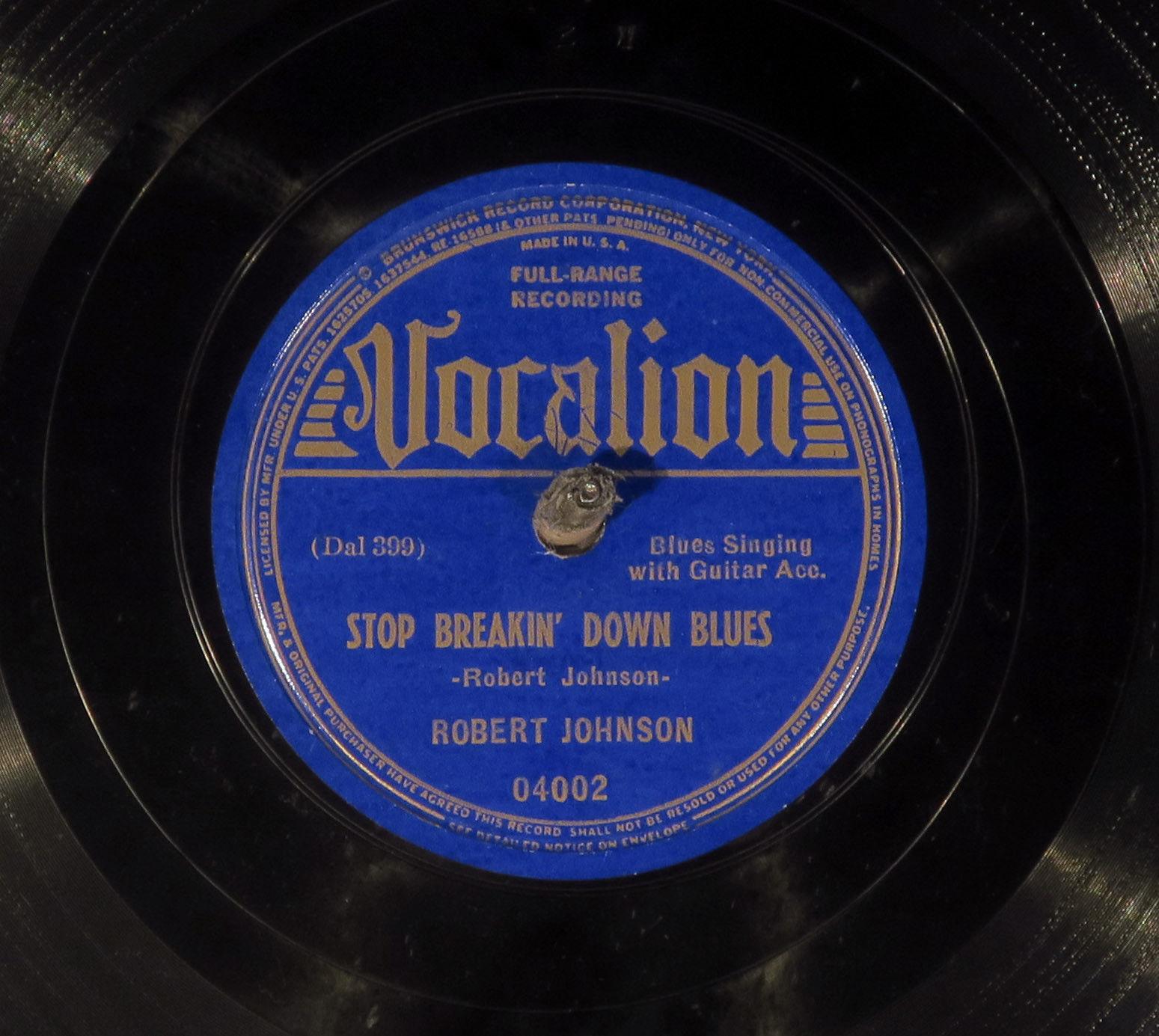 78 RPM -- Robert Johnson, Vocalion 04002, EE-  Blues