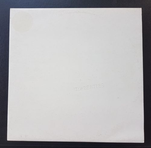 Beatles White Album OZ '80s White vinyl 2LP EX Uncensored Poster