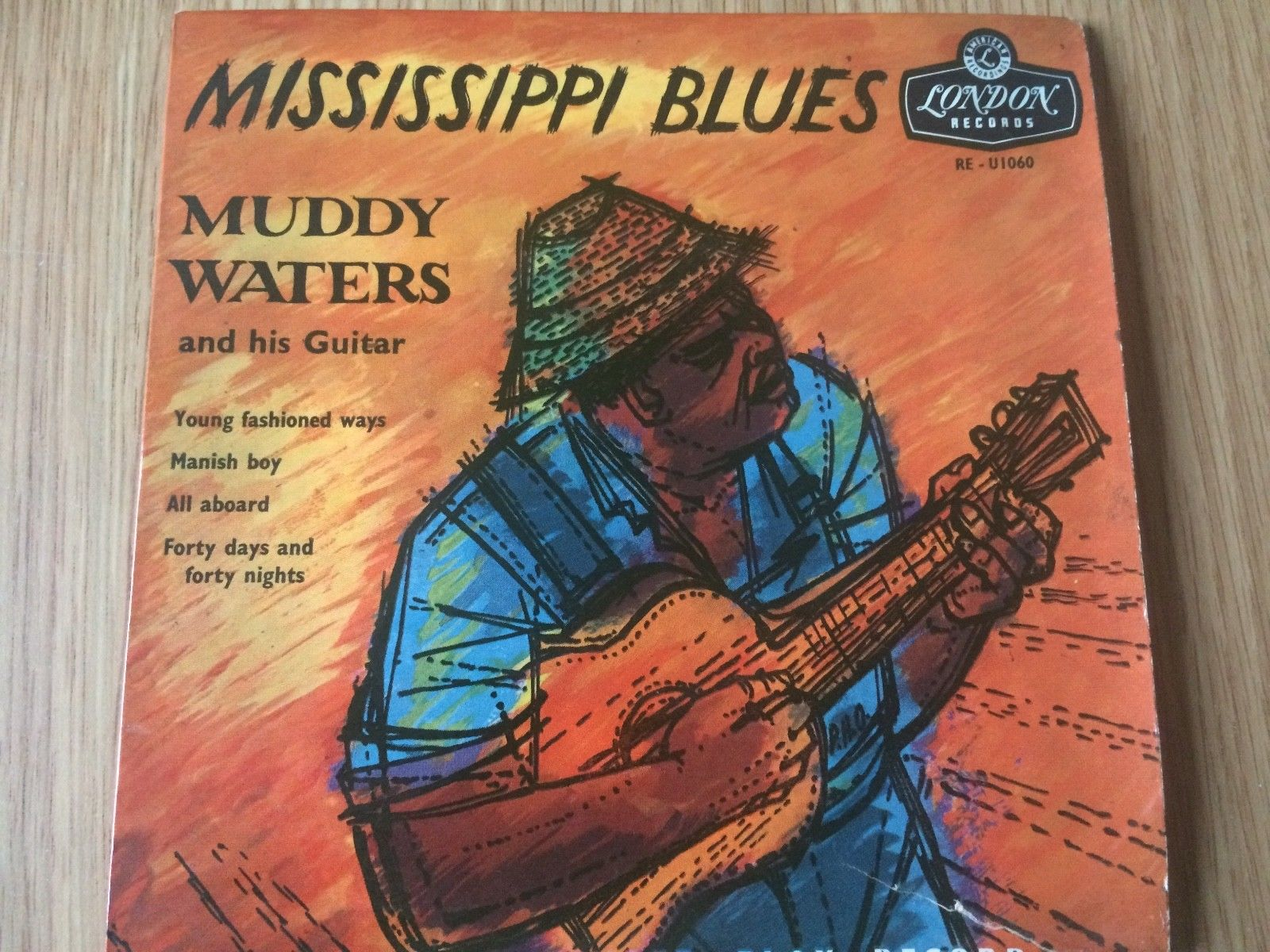 MUDDY WATERS - MISSISSIPPI BLUES.  1956 FOUR TRACK EP. LONDON LABEL
