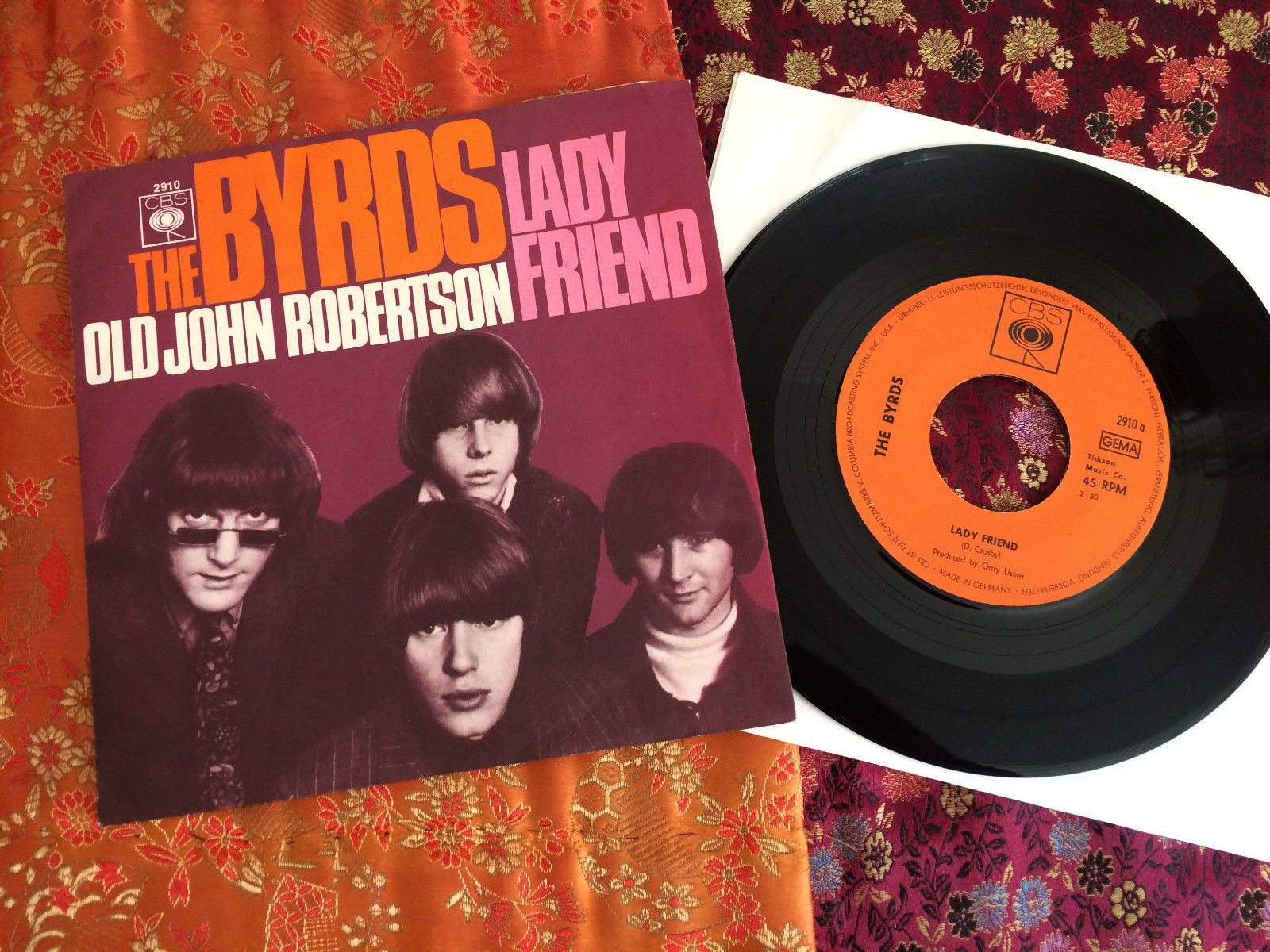 "7"" Single THE BYRDS ?- Lady Friend  / Orig. CBS 2910 / D '67 / Mint-"