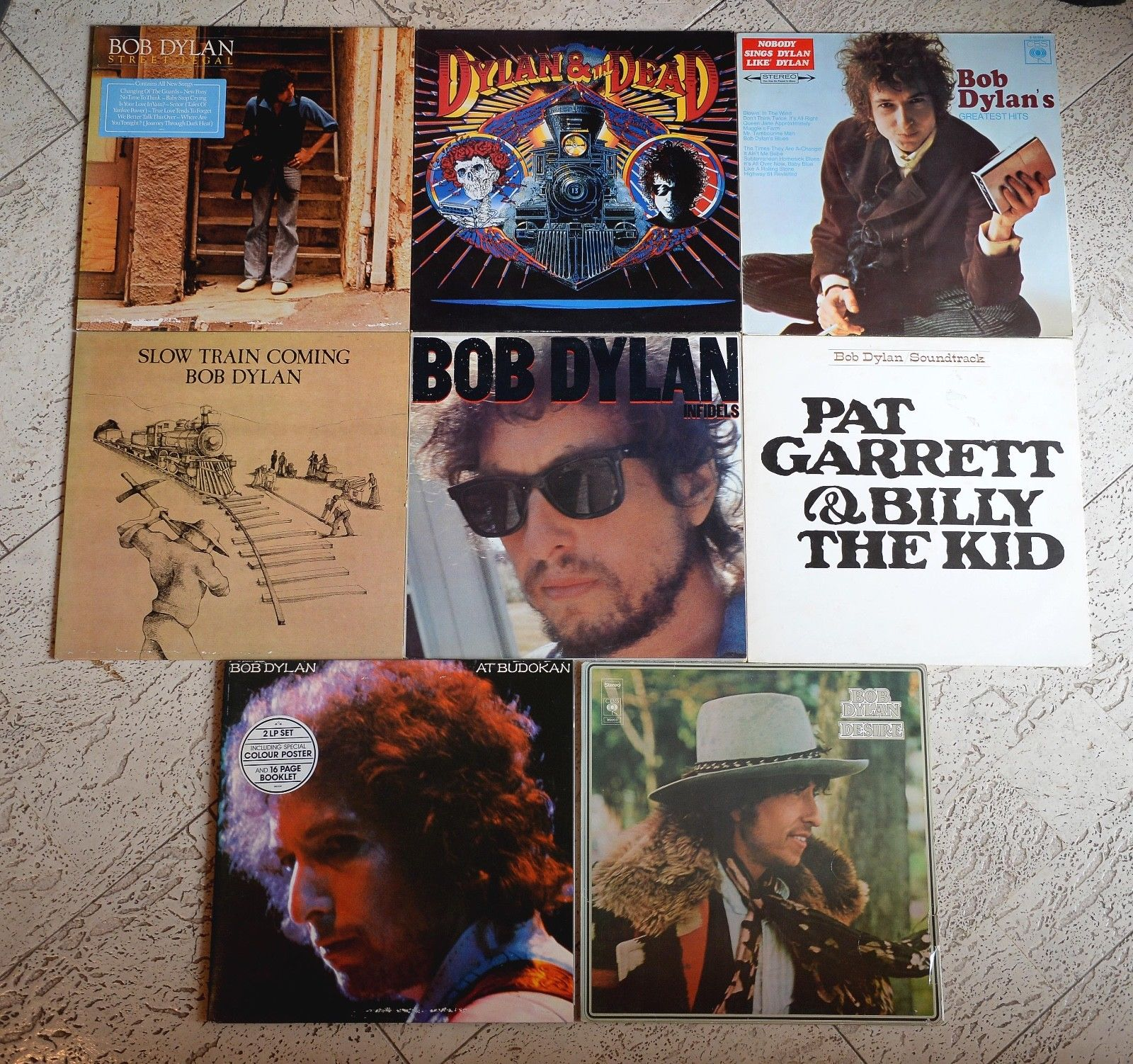 8 x Bob Dylan - LP´s - Desire / At Budokan / Slow Train Coming / The Dead /Promo