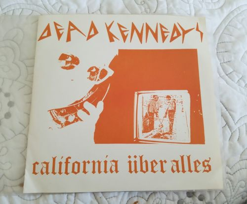 Dead Kennedys California Uber Alles 1979 Optional Music RARE Orange Cover/Poster