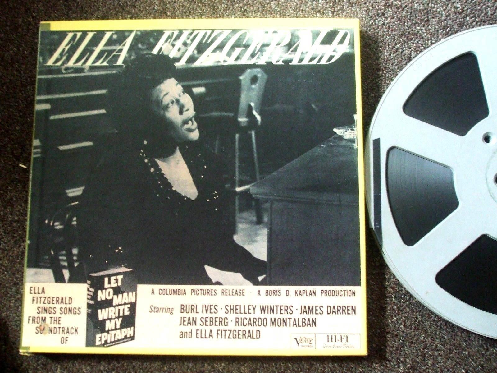 "ELLA FITZGERALD - LET NO MAN WRITE MY EPITAPH OST  - 2-TRACK  15 IPS 10.5"" REEL"