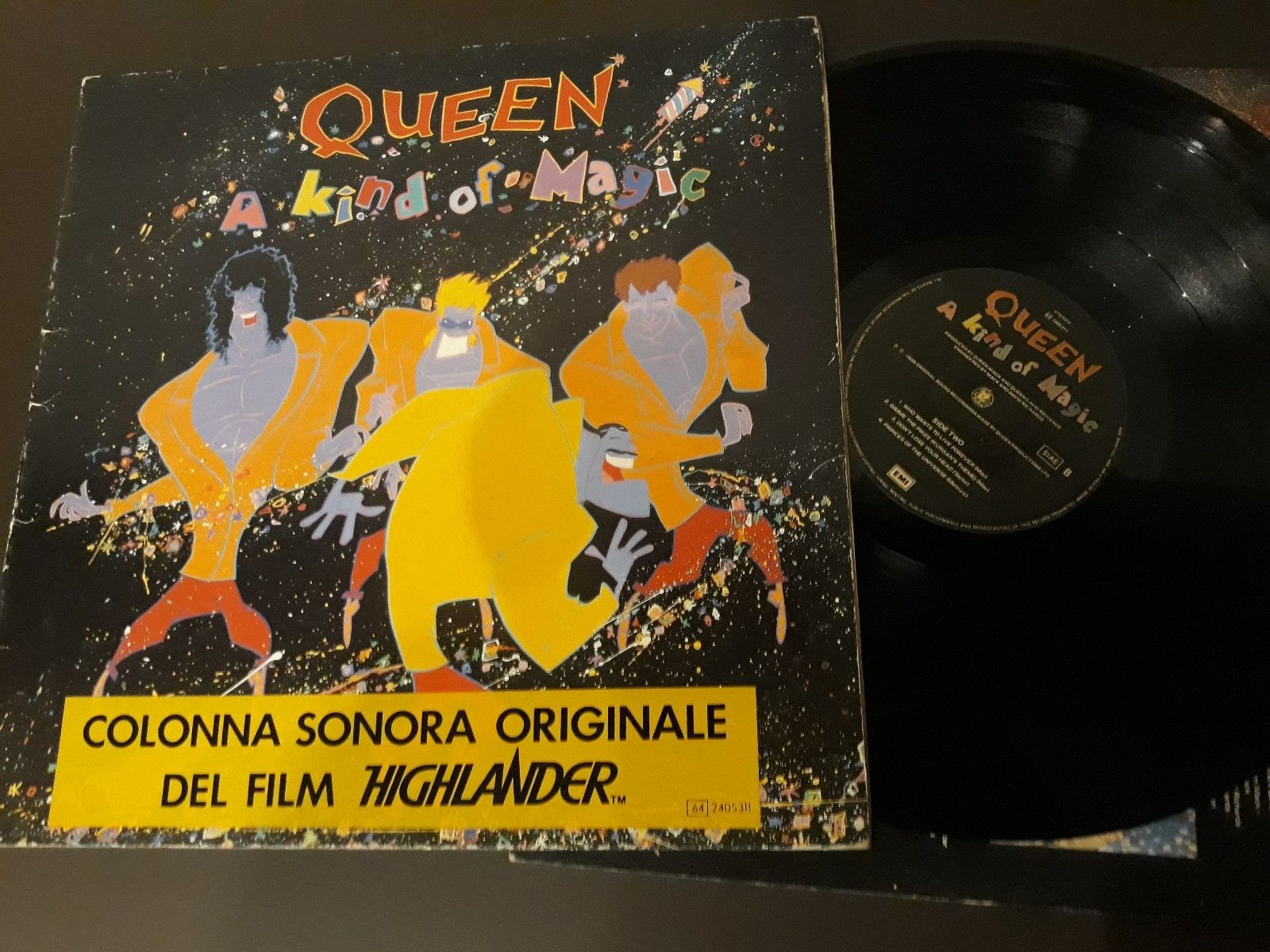 QUEEN a kind of magic  edition with promo film on front cover Italy LP