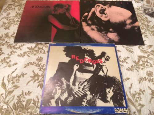 THE AVENGERS 2 LP LOT: Self Titled S/T '83 & White Noise ORIGINAL LABELS