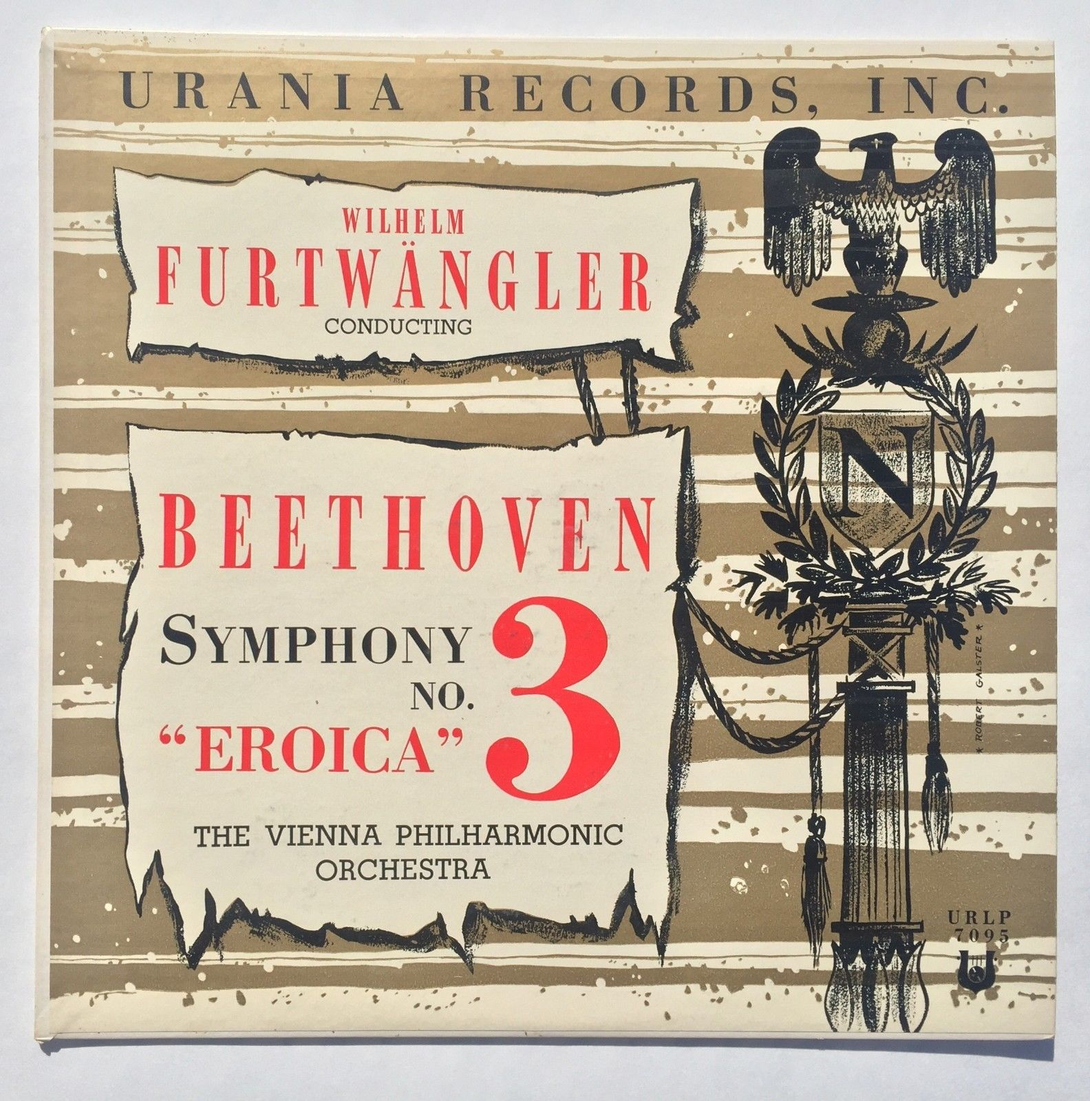 "NM+ Furtwangler Beethoven Eroica First Press Mono Urania URLP 7095 ""AB"" Stamper"