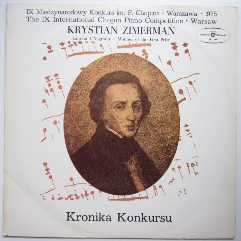 CHOPIN Competition Winner * KRYSTIAN ZIMERMAN * His debut * MUZA Stereo LP NM
