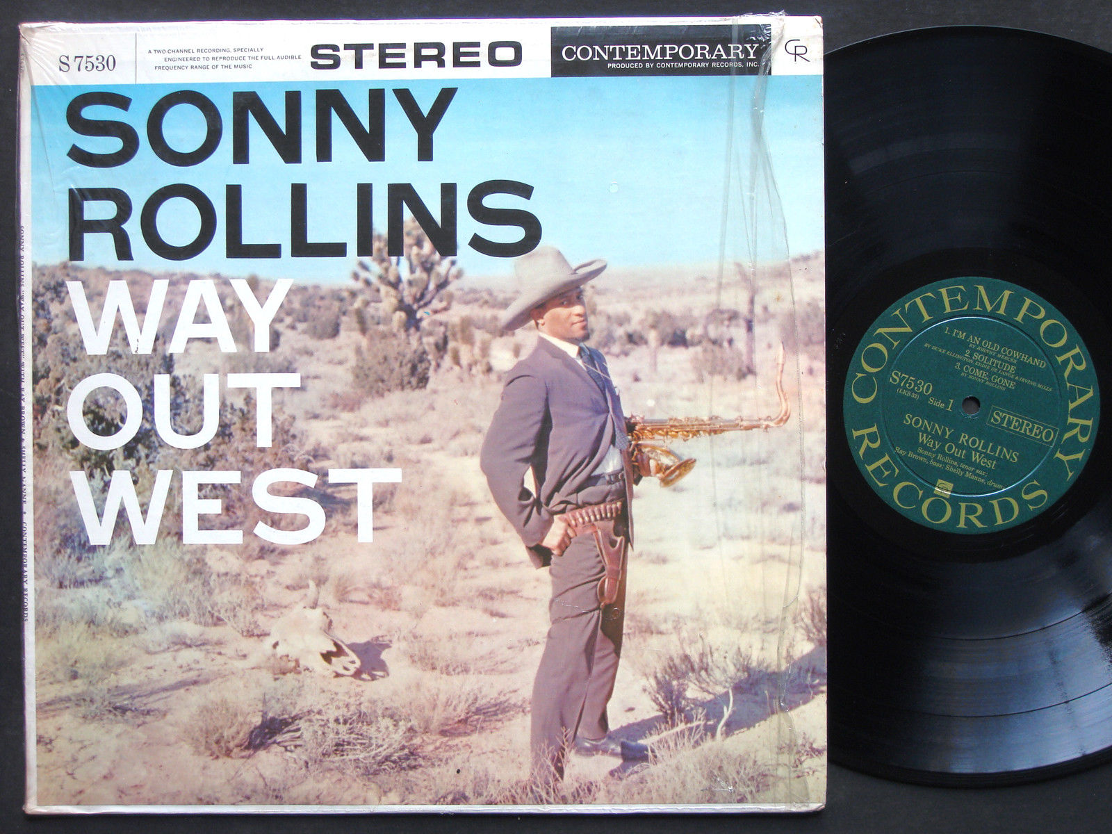 SONNY ROLLINS Way Out West LP CONTEMPORARY S7530 US 1958 DG ST Ray Brown NM