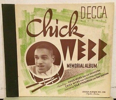 c 78 RPM Chick Webb Memorial Album Decca 138 album (Ella Fitzgerald autograph)