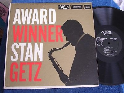 Stan Getz/Award Winner/Original 1959 Deep Groove Mono/Verve MG V-8296/EX+ to M-