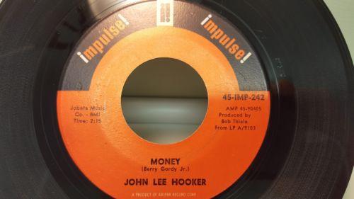 JOHN LEE HOOKER - MONEY.  ORIGINAL US ISSUE. R N B RARITY. MINT MINUS.