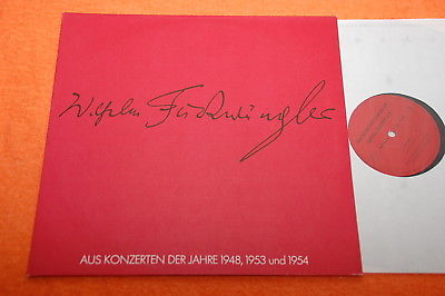Furtwangler Society Bach Strauss Wagner Stravinsky Live German Private 2LP NM