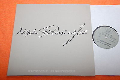 Furtwangler Society Pfitzner Mozart Brahms Symphony No.4 Live '49 Private 2LP NM