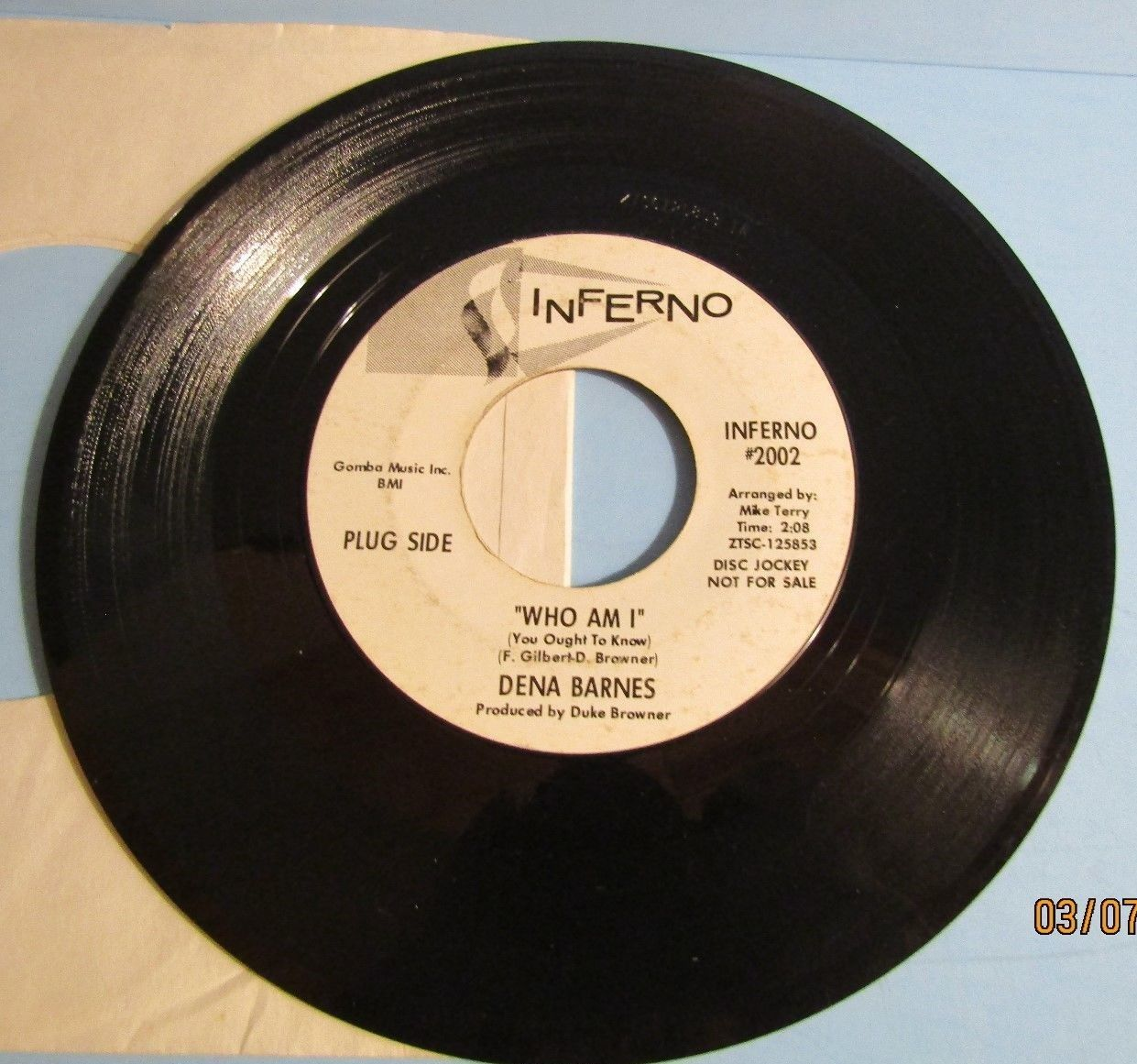 Dena Barnes - Who Am I / If You Ever... Rare Original Northern Soul Promo 45