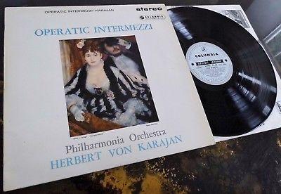 Operatic Intermezzi - Herbert Von Karajan **Columbia SAX 2294 ED1 LP**