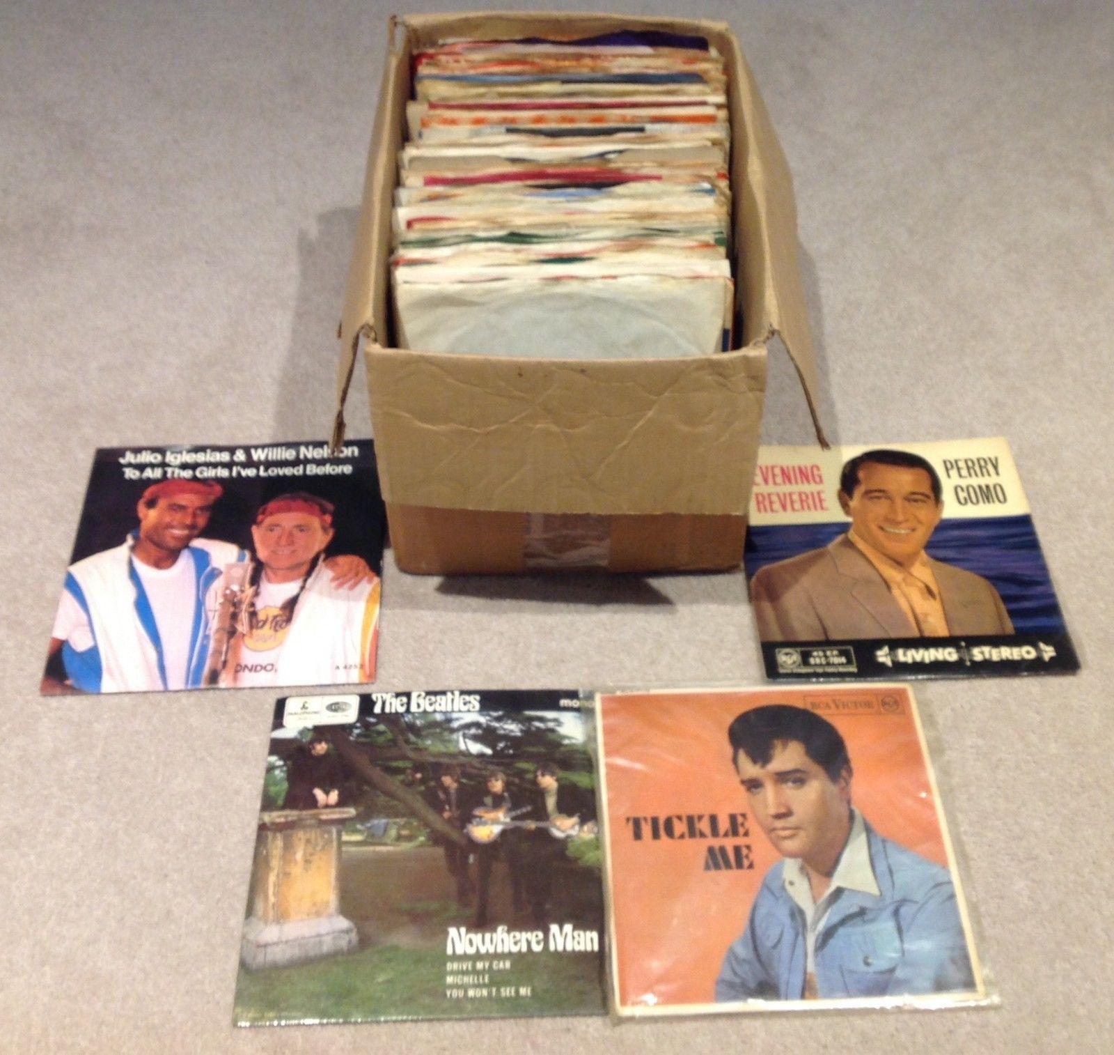 vinyl single record collection inc The Beatles Elvis Rollings Stone Tom Jones