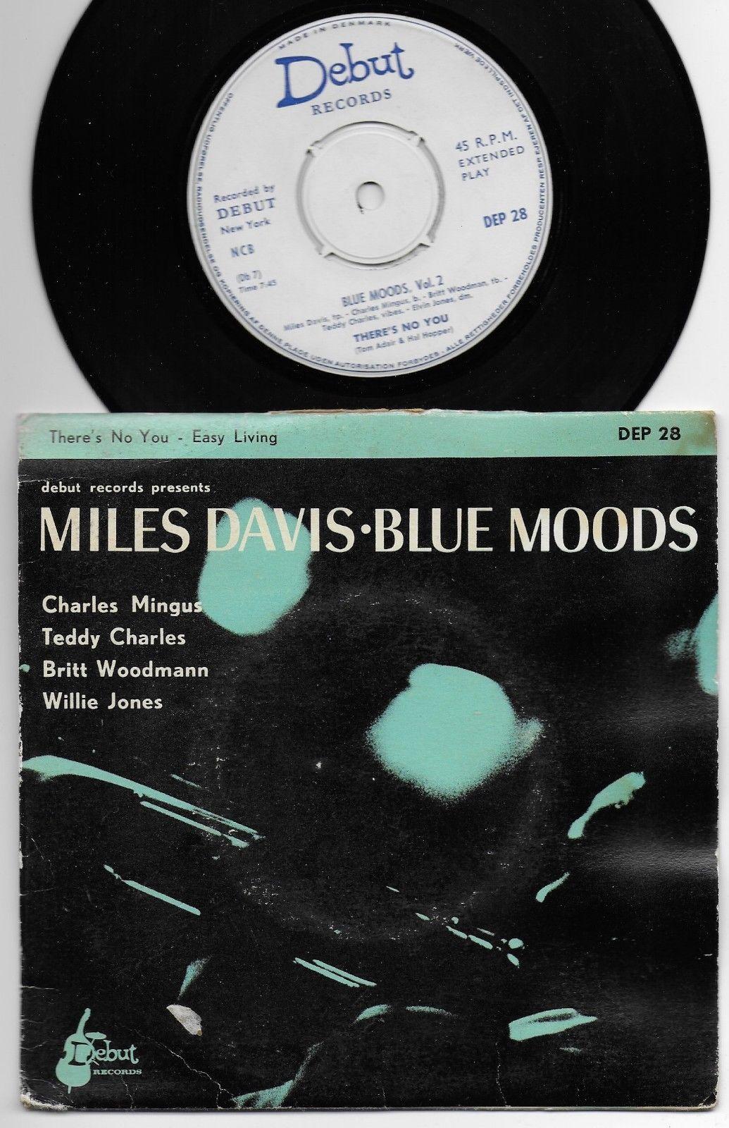 "Miles Davis - Blue Moods - Denmark 7"" EP PS - Debut Rec."