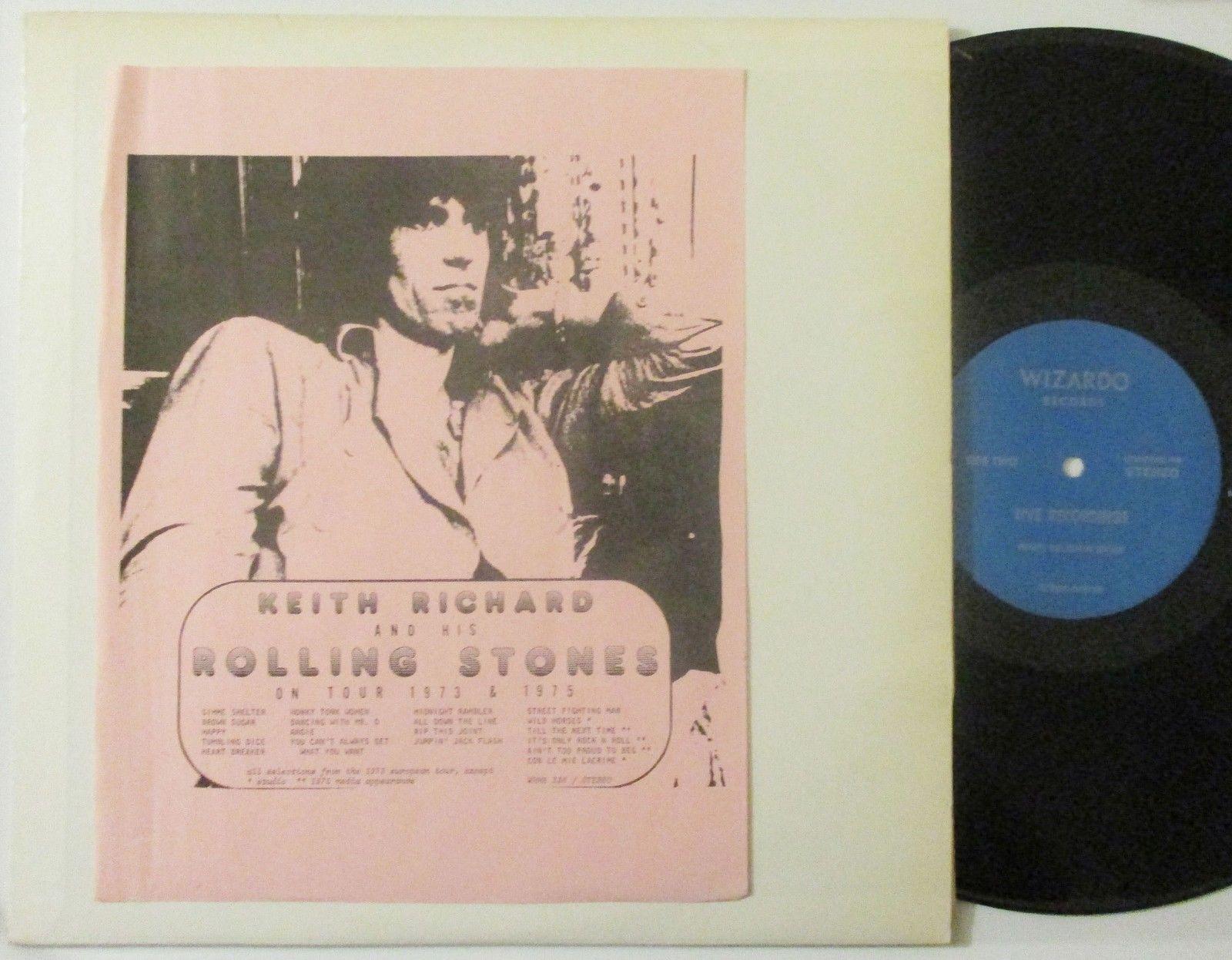 KEITH RICHARD & HIS ROLLING STONES ON TOUR 1973 & 1975 2 LP Set Wizardo-NO TMOQ
