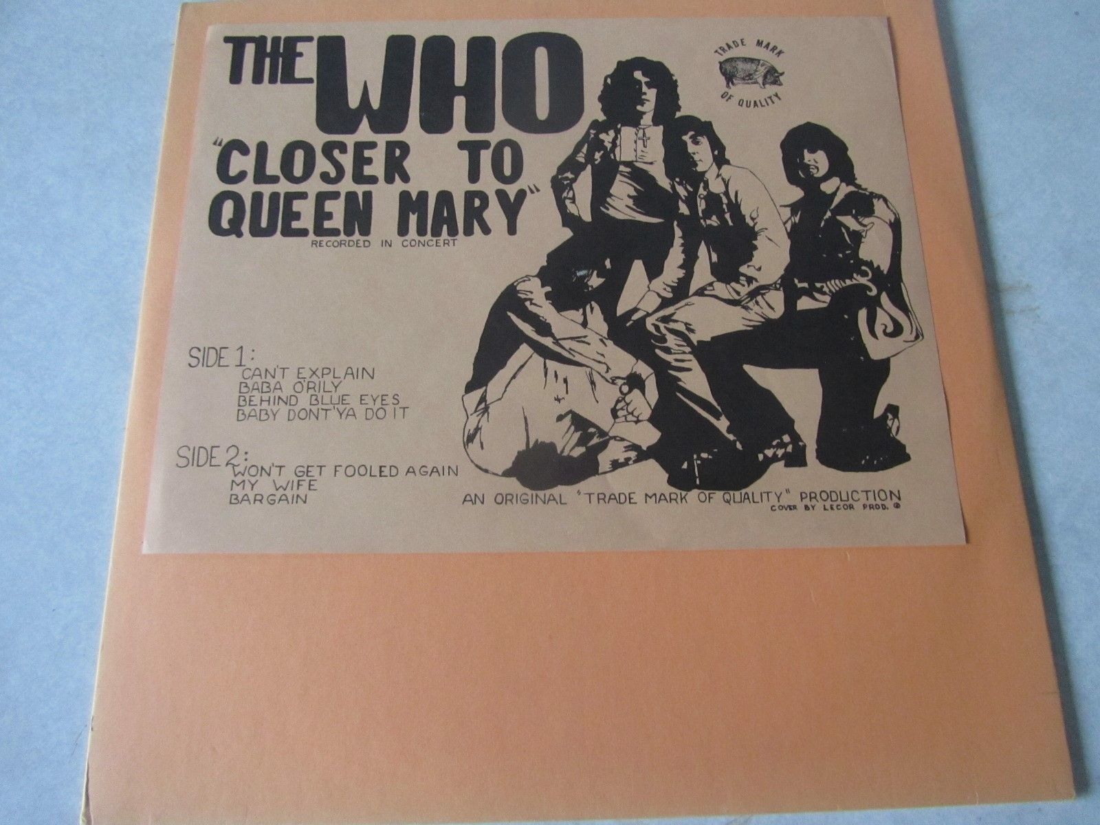 The Who Closer to the Queen Mary CV Tmoq 1Lp Townshend Moon Entwistle Daltrey