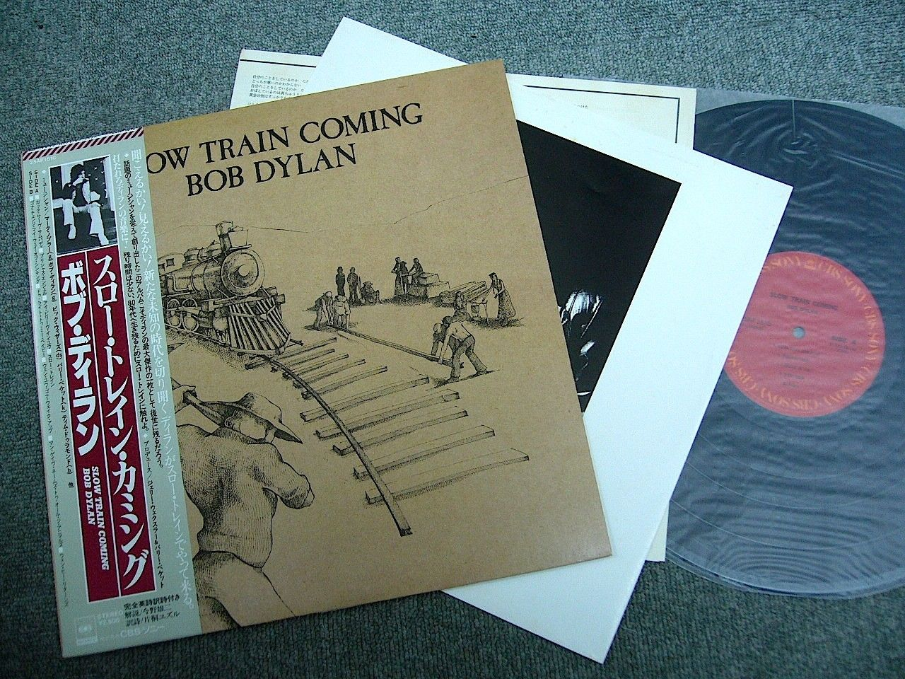 BOB DYLAN - Slow Train Coming (1979 JAPAN LP w/OBI)