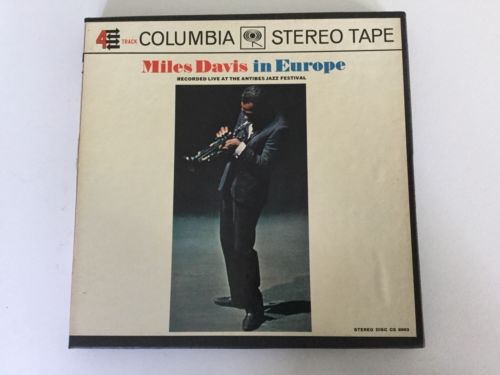 Reel-To-Reel Tape: Miles Davis In Europe, 4-Track, 7 1/2 IPS, Rare  Columbia.