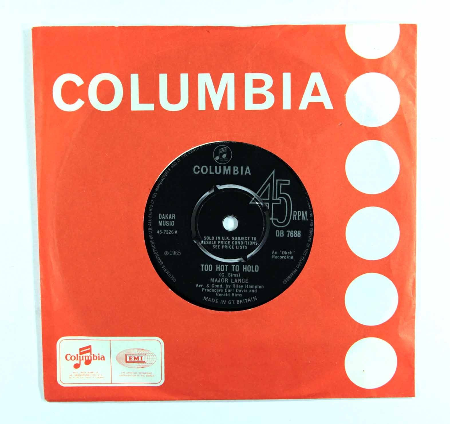 "Major Lance - Too Hot To Hold (*Rare* UK 7"" 1st Pressing DB 7688)"